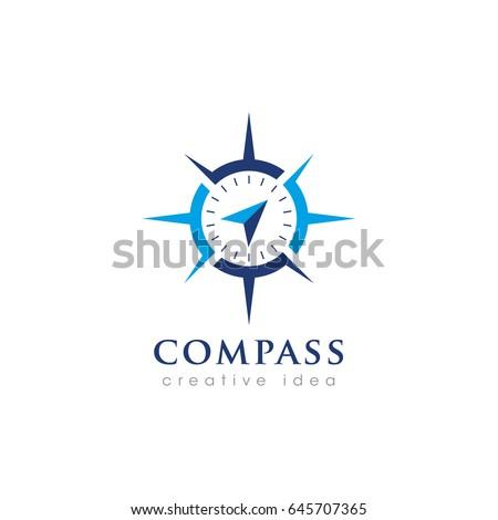 Creative Compass Concept Logo Design Template