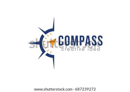 creative compass concept logo