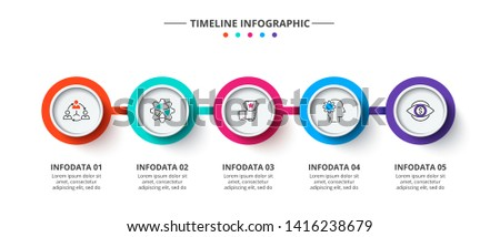 Creative concept for infographic. Process chart. Abstract elements of graph, diagram with 5 steps, options, parts or processes. Vector business template for presentation.