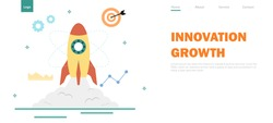 Creative concept,Learning to build skill,Starting a business for creativity and innovation,infographic,Technology growth,Website banner landing page