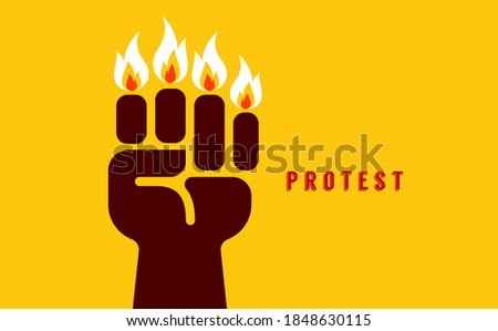 Creative concept of Human rights protest poster or logo design.
