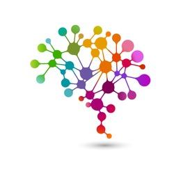 Creative concept of the human brain, eps10 vector