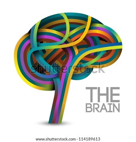 Creative concept of the human brain, vector
