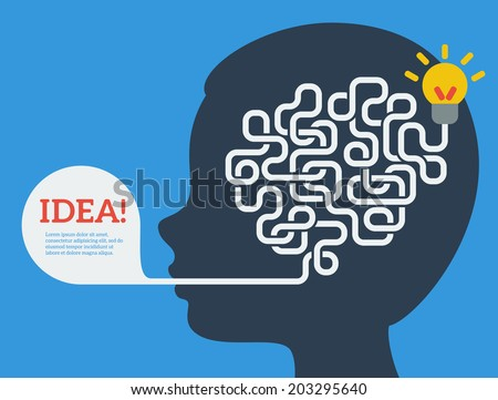 creative concept of the human
