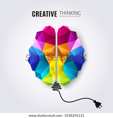 Creative concept of the human brain with connected electricity wire.