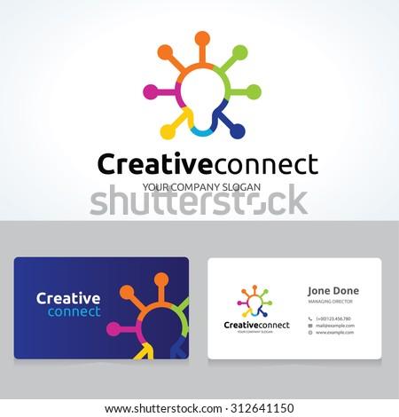 creative connect idea logo and