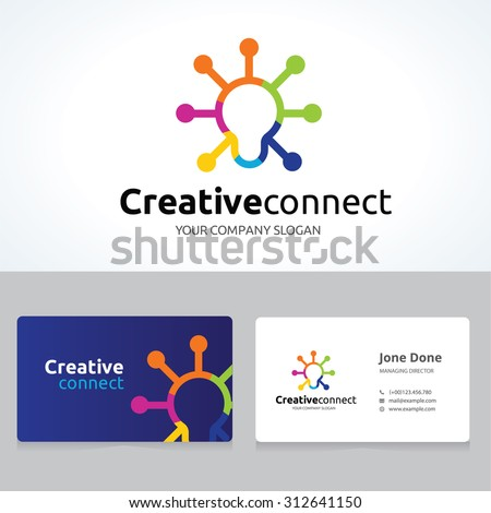 creative connect idea logo