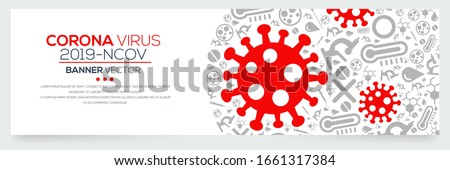 Creative (Corona virus -2019-nCoV ) Banner Word with Icons ,Vector illustration.