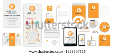 Creative Corporate Identity Template Design set , Business stationery mock-up collection.