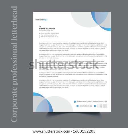 Creative Corporate Professional letterhead Template