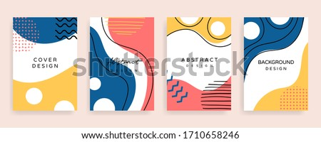 creative cover design. Social media banner template. Editable mockup for stories, post, blog, sale and  promotion. Abstract modern coloured shapes, line arts background design for web and mobile app.