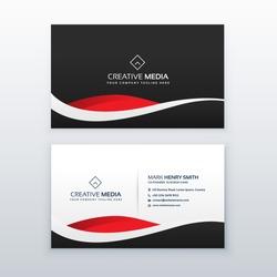 creative dark business card vector design