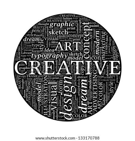 Word Creative Design Creative Design Concept