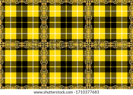 Creative design for new types of fabrics in the style of Scottish tartans
