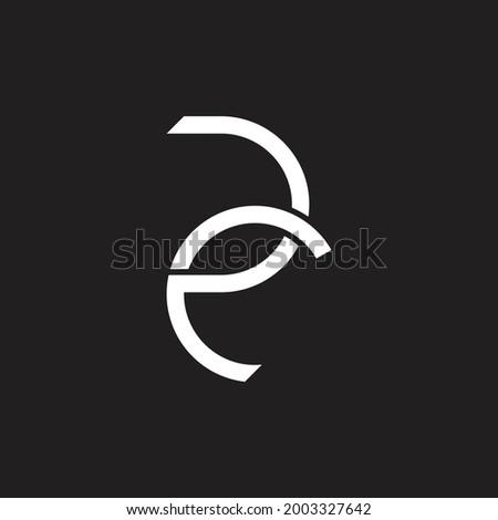 Creative design initials RC letter logo Abstract design Vector Stock fotó ©