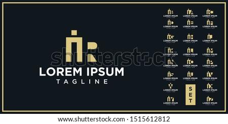 creative design of negative space letters Foto stock ©