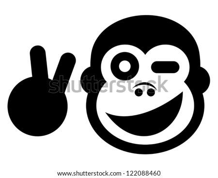 Creative design of peace monkey