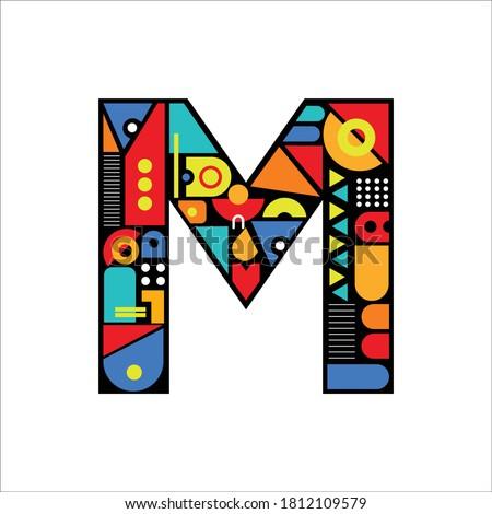 Creative Design vector  M. Letter M logo icon design template elements Stock fotó ©