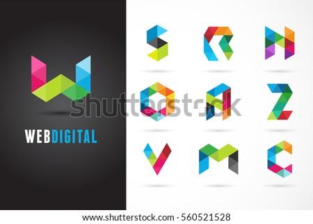 creative  digital letter