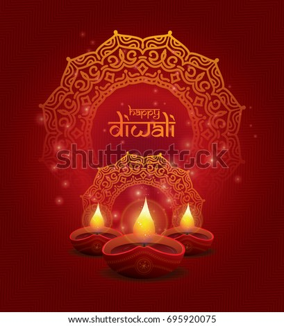 stock-vector-creative-diwali-festival-template-design-with-creative-lamps