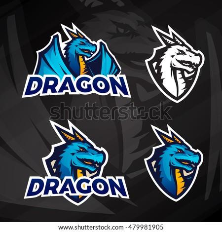 creative dragon logo concept