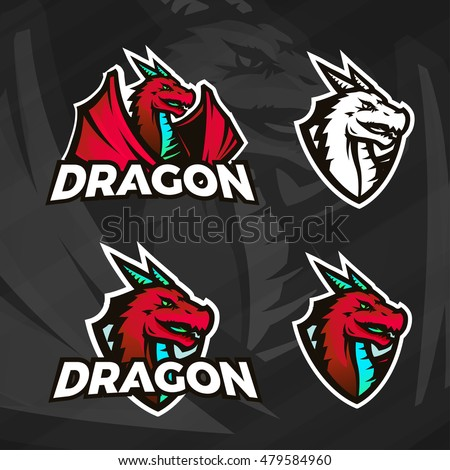 creative dragon logo template