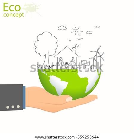 Royalty Free Creative Drawing Green World Map 299895707 Stock