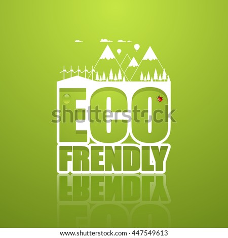 creative eco frendly lettering