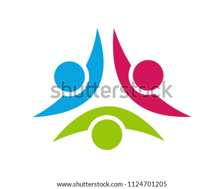 creative element people logo template, logo community, team, group #1124701205