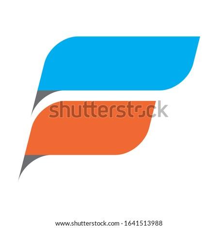 Creative F logo design for financial business companies, technology companies