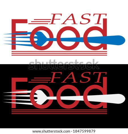 creative fast food logo in the