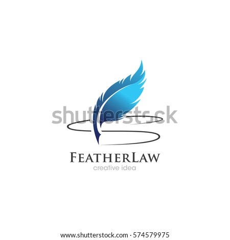 creative feather concept logo
