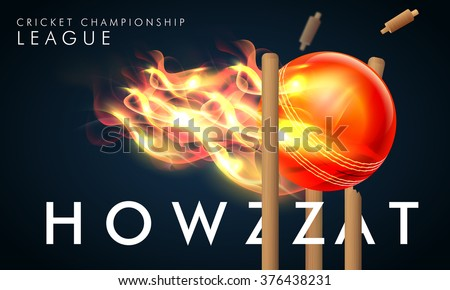 creative fiery ball hit the