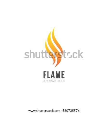 creative flame concept logo