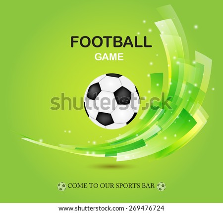 creative football vector design