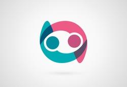 Creative friendship logo. Vector icon