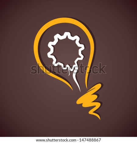 creative gear in bulb icon