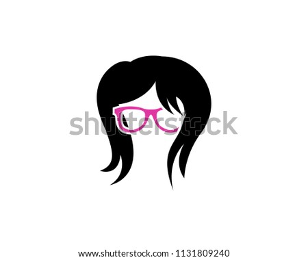 creative geek girl vector design