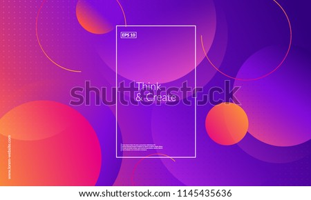 Creative geometric wallpaper. Trendy gradient shapes composition. Eps10 vector. - Shutterstock ID 1145435636