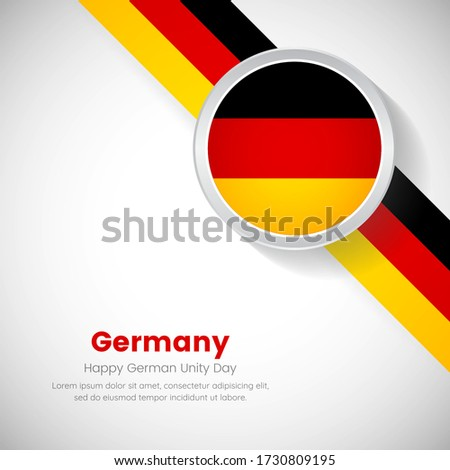 Creative Germany national flag on circle. German unity day of Germany country with classic background Foto stock ©