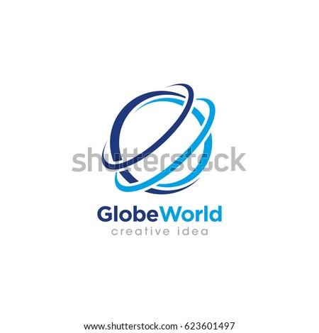 creative globe concept logo