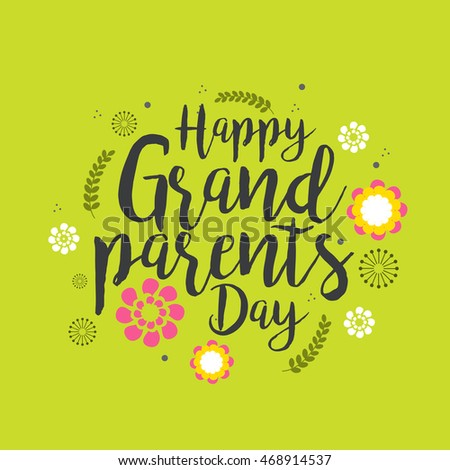 Creative greeting card with stylish typography for celebration of creative greeting card with stylish typography for celebration of grandparents day m4hsunfo