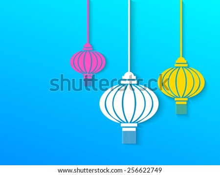 creative hanging colorful