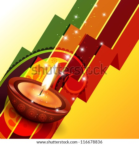 creative happy diwali vector background design