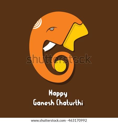 creative happy ganesha