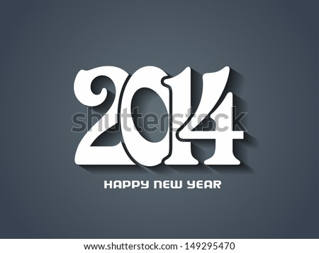 creative happy new year 2014 design