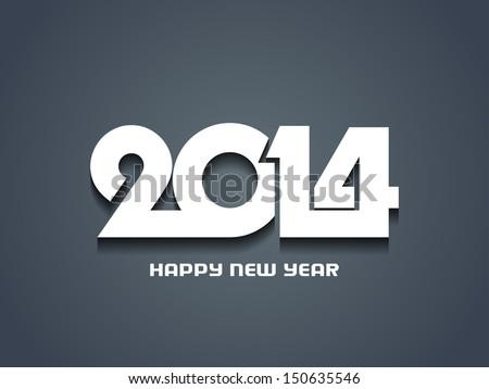 creative happy new year 2014 design. Сток-фото ©