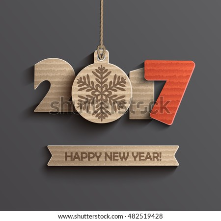 Creative happy new year 2017 design. Vector illustration.