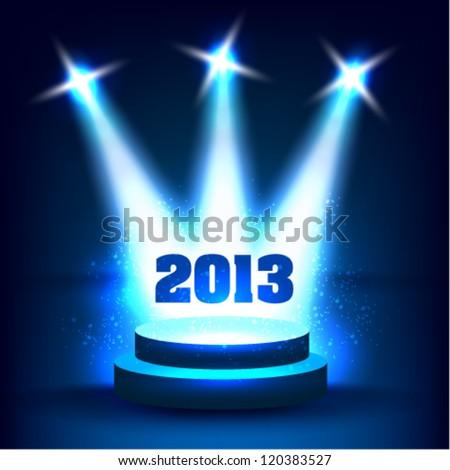 creative 2013 happy new year graphic design