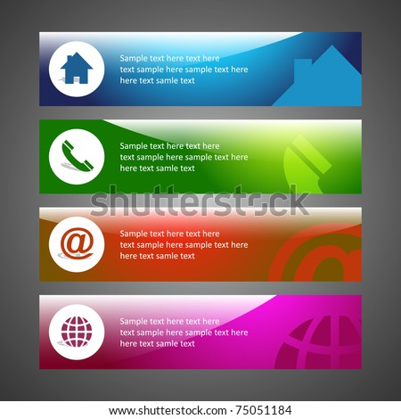 Home Design on Creative Header Design  Background Template  Email  Home  Phone